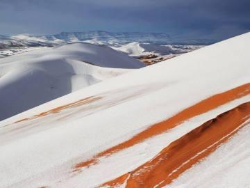 Las dunas del Sáhara nevadas