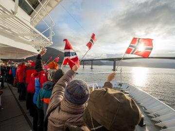 Día Nacional de Noruega a bordo de un crucero
